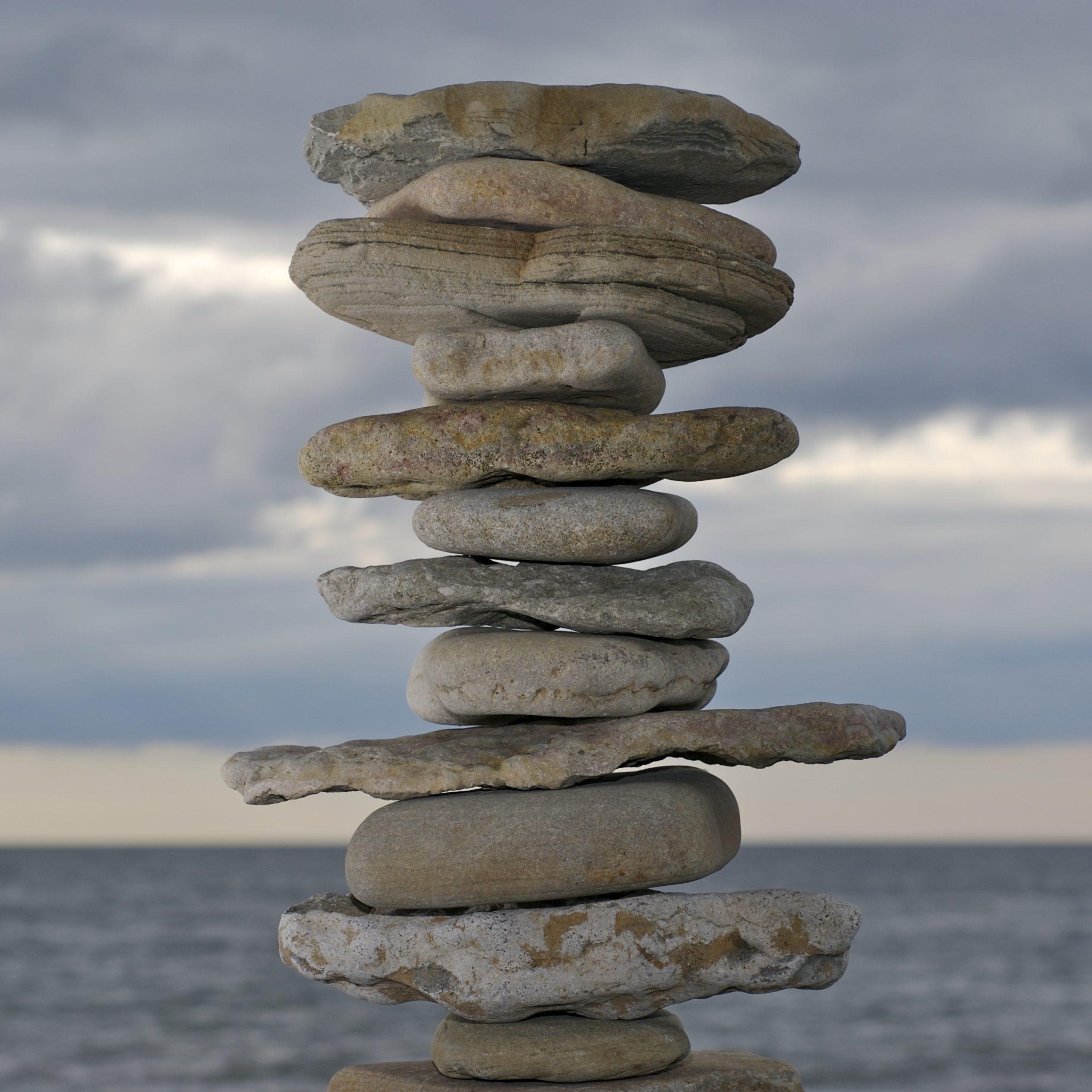 stacked stones zen